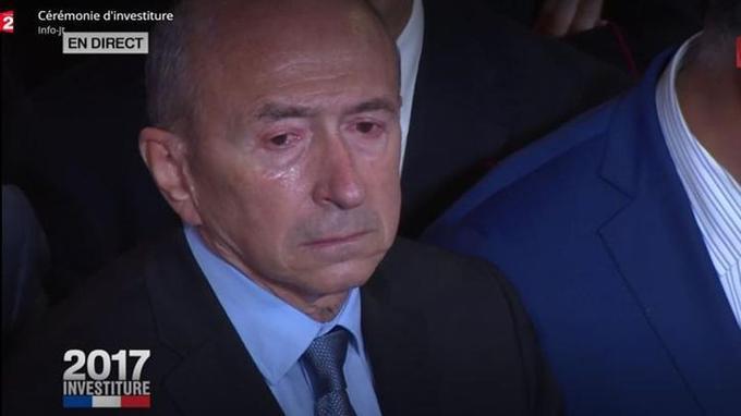 Gérard Collomb, ému.