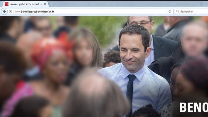 Capture du site lancé par Benoît Hamon.