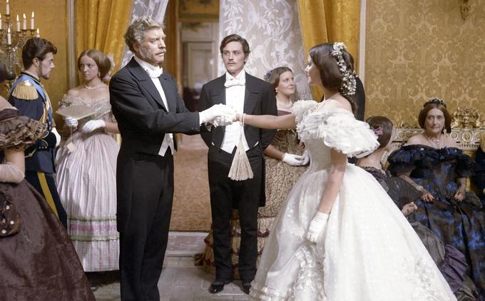 Claudia Cardinale dans la scène de la valse dans «Le Guépard».