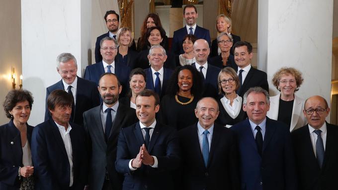 Le premier gouvernement de l'ère Macron.
