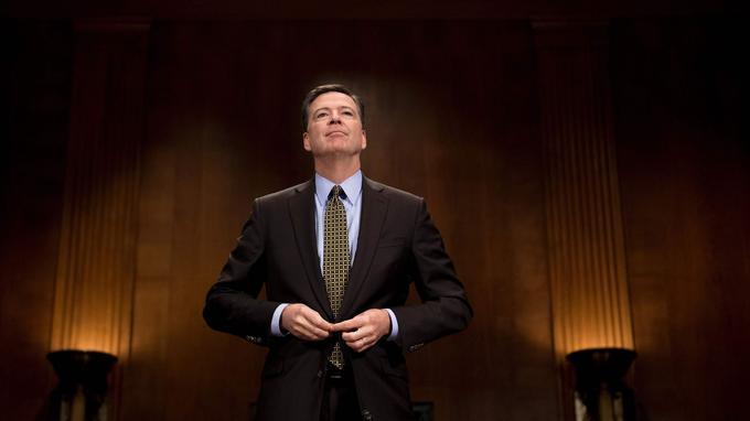 James Comey, l'ex-directeur du FBI? devant le Congrès le 3 mai dernier.