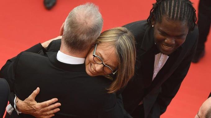 Thierry Frémaux salue Françoise Nyssen.