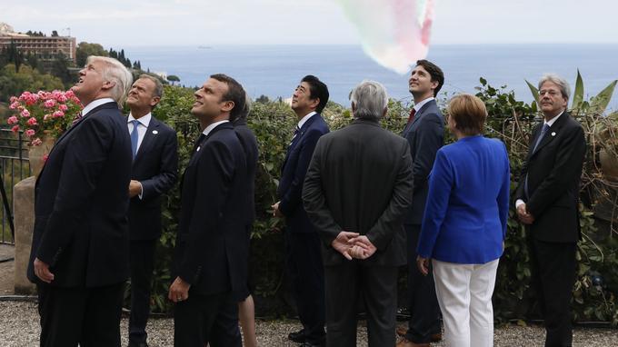 Les sept chefs de l'État lors du sommet du G7.