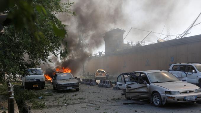 Le site de l'explosion, ce mercredi.