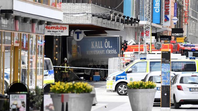 Un camion volé avait foncé sur la foule dans une rue piétonne de Stockholm, le 7 avril 2017.