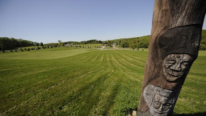 Le champ qui accueilli le Woodstock music festival en 1969, attirant près de 500.000 personnes.