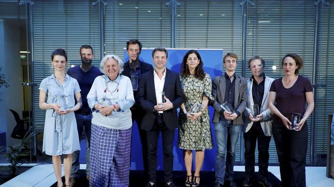 Les lauréats du prix Beaumarchais 2017, hier dans les locaux du Figaro.