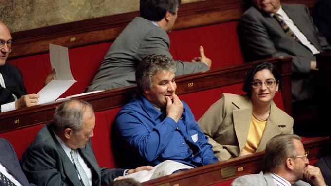 Le député PCF de l'Oise Patrice Carvalho en juin 1997 à l'Assemblée nationale.