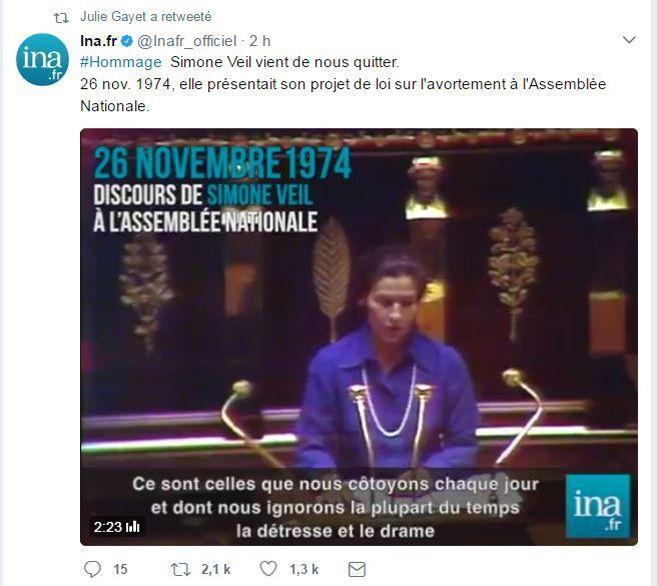 Discours de Simone Veil à l'Assemblée nationale le 26 novembre 1974