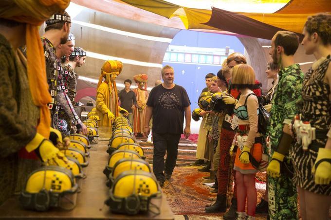 Luc Besson durant le tournage de «Valérian et la Cité des Mille Planètes.»