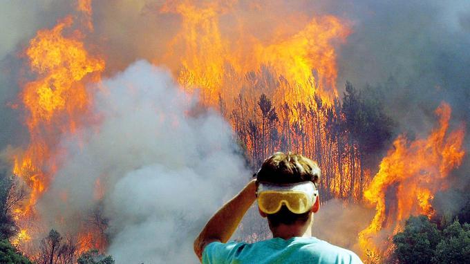 Incendies dans le massif des Maures. <i>PATRICK VALASSERIS / AFP</i>