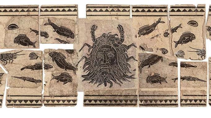Mosaïque gallo-romaine du dieu Océan d'origine viennoise qui sera prochainement restaurée.