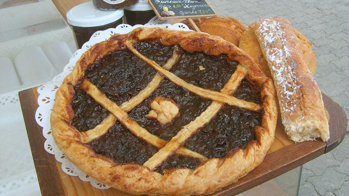 Une tarte aux pruneaux. © OT de l'Ile d'Yeu