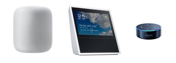 Le HomePod d'Apple et les Echo Show et Dot d'Amazon proposent des approches différentes de l'enceinte intelligente.