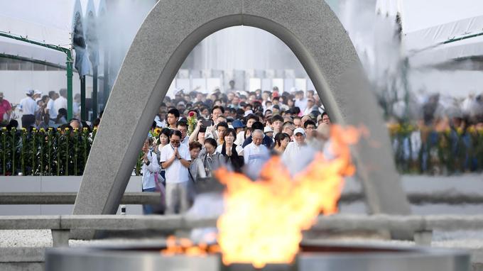 Dimanche, un rassemblement a été organisé au Parc du Mémorial de la Paix de Hiroshima, pour commémorer le premier bombardement atomique de l'Histoire.