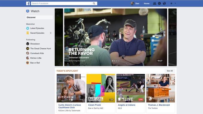 Facebook Watch permettra à ses membres de s'abonner à des programmes pour ne rater aucun épisode. (Facebook)
