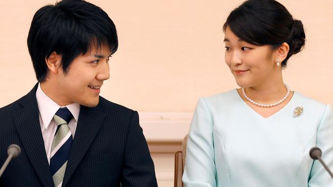 La princesse Mako et son fiancé, Kei Komuro.