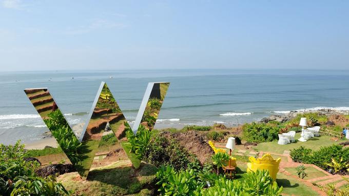 L'hôtel est situé au bord de la mer. © O Roques Rogery pour le Figaro Magazine