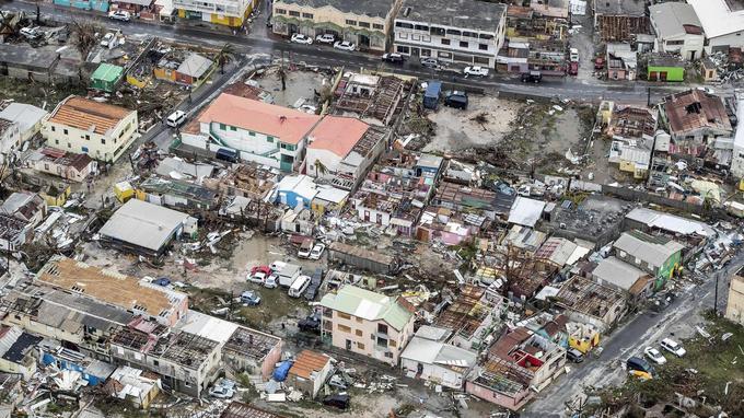 Peu de toitures ont résisté au passage de l'ouragan.
