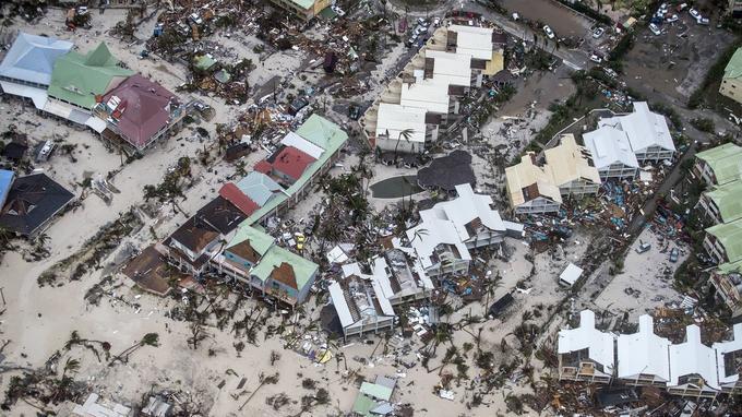 Saint-Martin après le passage d'Irma.