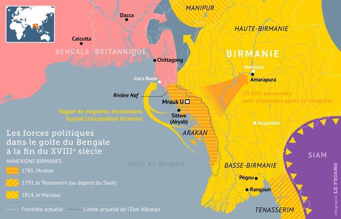 Carte Birmanie A Telecharger.Le Parcours Chaotique Des Rohingyas A Travers L Histoire