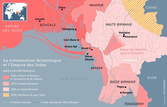 Carte Conflit Birmanie.Le Parcours Chaotique Des Rohingyas A Travers L Histoire