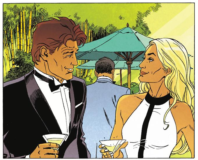 Largo Winch et Ksenia lors d'un cocktail mondain au forum de Talos: comme un petit air de James Bond...