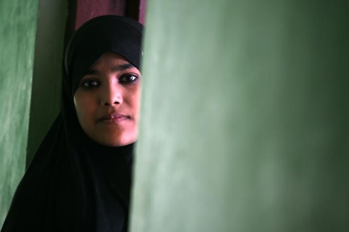 Des Rohingyas sont également réfugiés dans un camp à Srinagar en Inde.