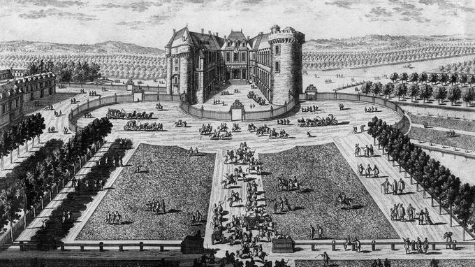 Le château de Rambouillet au XVIe siècle.