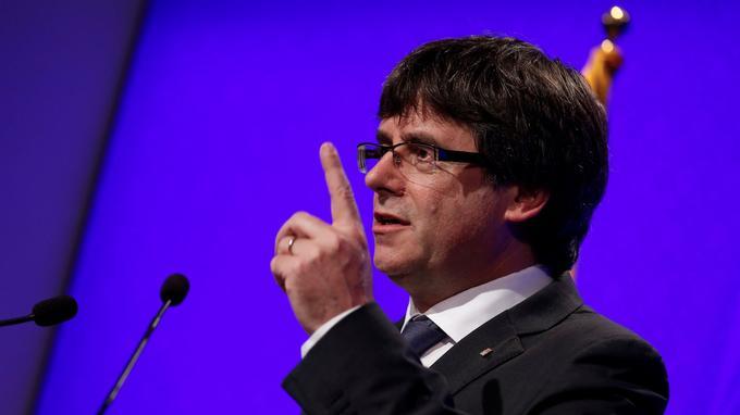 Le président catalan s'est exprimé lors d'une conférence de presse, lundi, à Barcelone/