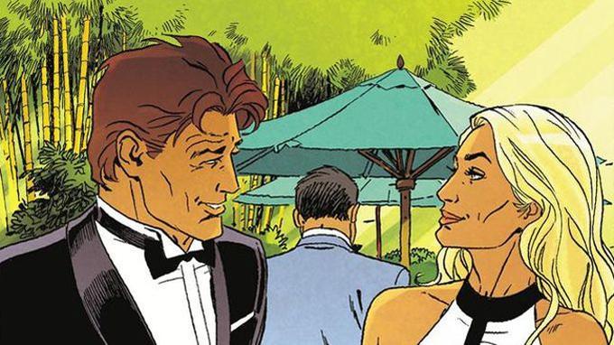 Largo participe à un cocktail en marge du forum de Talos, et fait ainsi la connaissance de la charmante Ksenia.