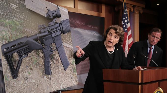 La sénatrice démocrate Dianne Feinstein s'en est prise vivement au «Bump Stock».