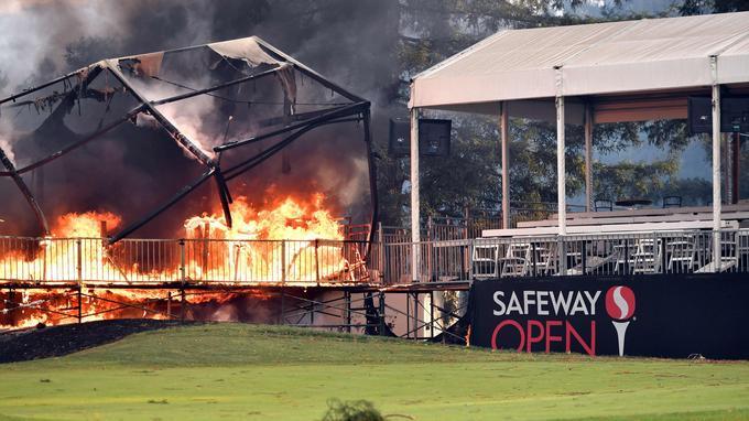 Un terrain de golf a été touché.