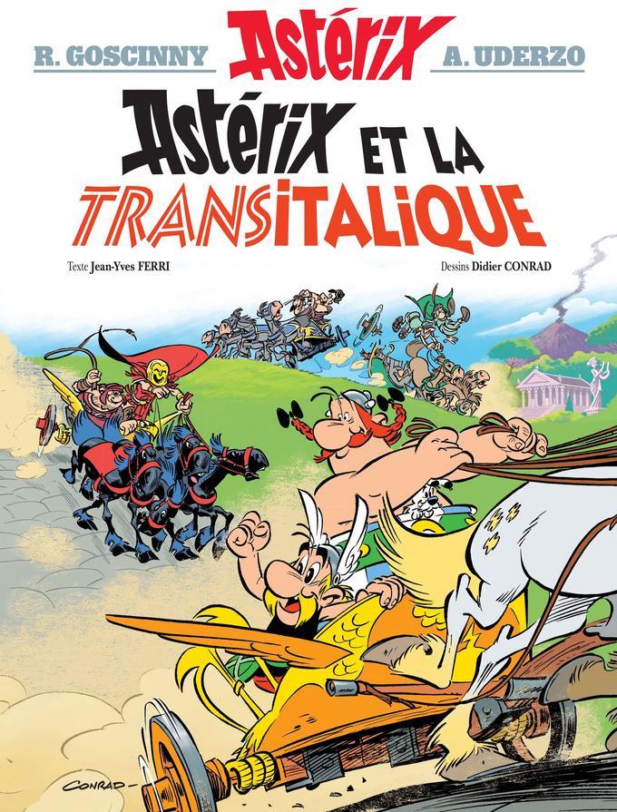 Couverture d' «Astérix et la Transitalique».