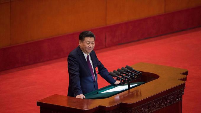 Xi Jinping, nouvel «empereur rouge». <i>Crédits Photo: NICOLAS ASFOURI/AFP</i>