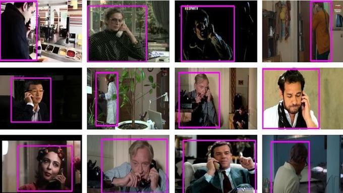 Douze séquences vidéo repérées par Google pour illustrer un appel téléphonique.
