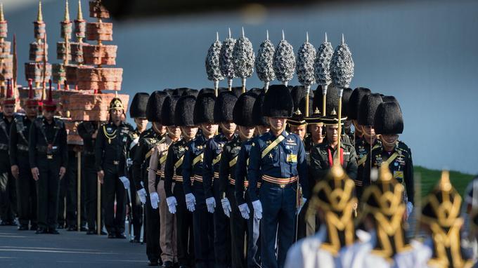 Les militaires répètent la cérémonie depuis plusieurs jours.