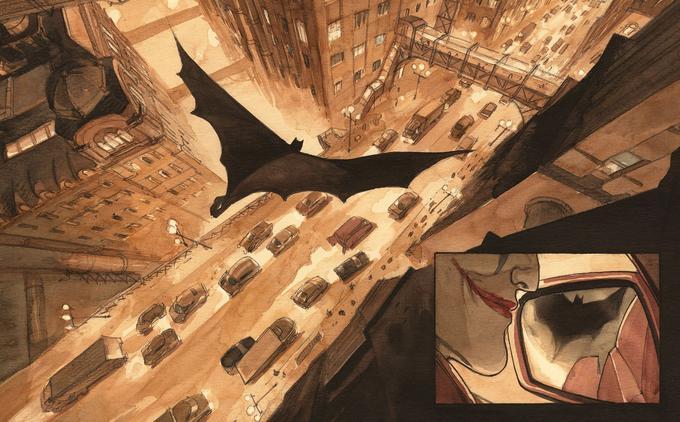 Le Batman d'Enrico Marini s'élance à la poursuite du Joker et de ses sbires.