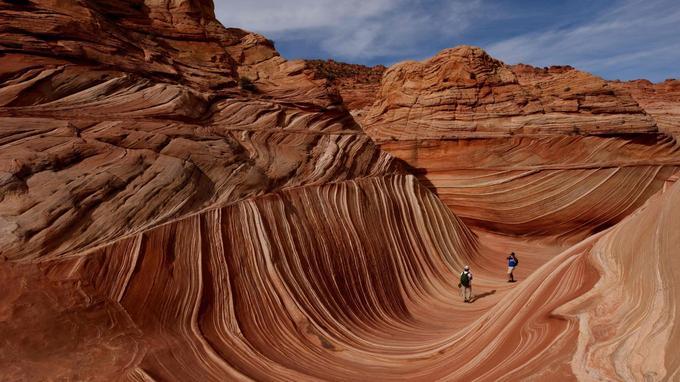 Les creux sont le résultat d'une érosion provoquée par le vent et l'eau de pluie.