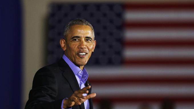 Barack Obama lors d'un meeting démocrate à Newark le 19 octobre.