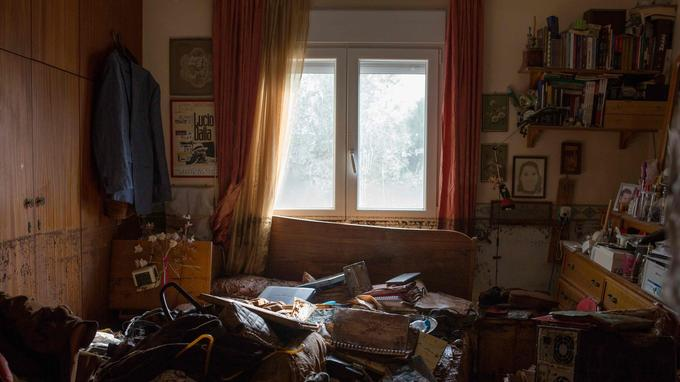 Une maison dévastée à Mandra.