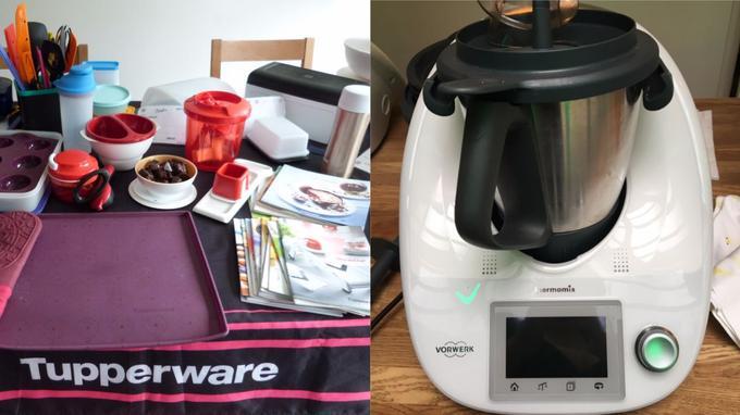 Tupperware et Thermomix, deux géants de le vente à domicile.