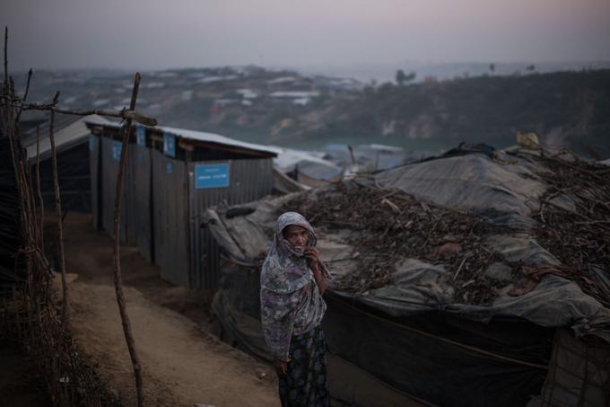 Une réfugiée rohingya, dans le camp de Kutupalong, près de Cox's Bazar, le 27 novembre dernier.