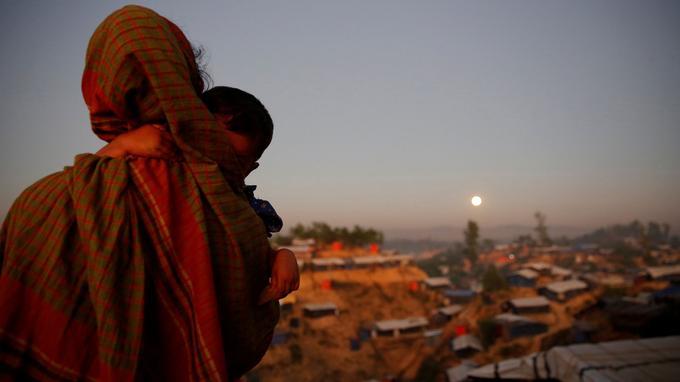 Ici dans le camp de réfugiés des Rohingya au Bangladesh.