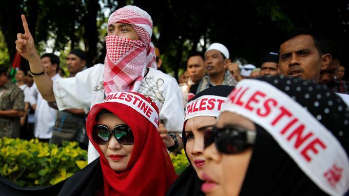 Manifestants à Jakarta.