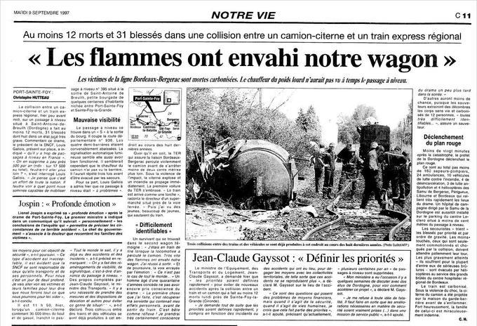 Article publié le 9 septembre 1997 dans <i>Le Figaro</i>.