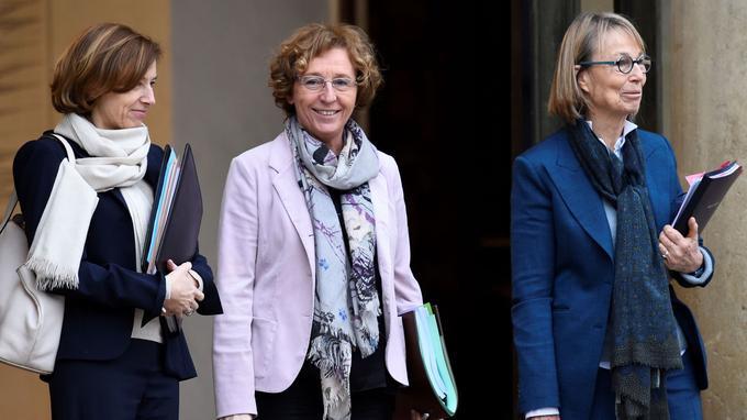 Florence Parly, ministre de la Défense, Muriel Pénicaud, ministre du Travail et François Nyssen, ministre de la Culture et de la Communication.