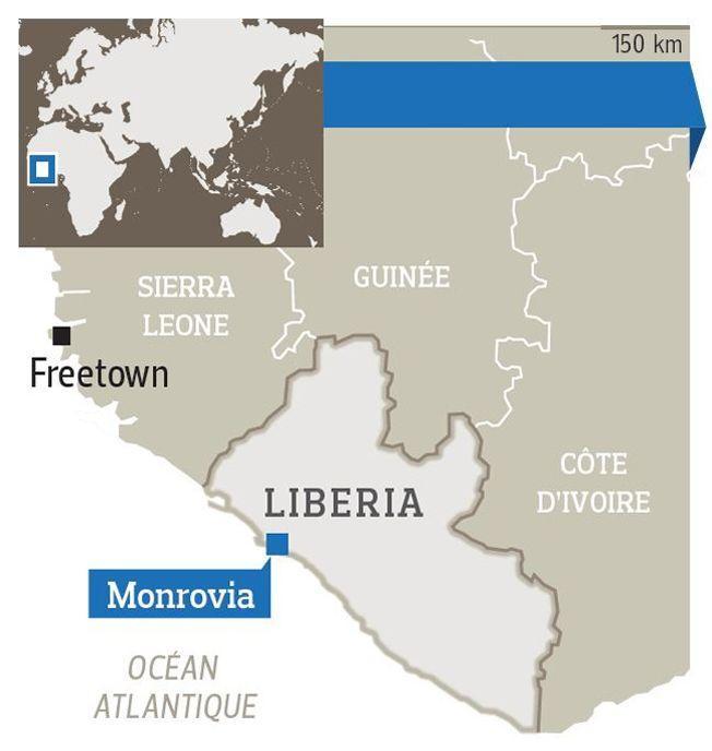 Le Liberia compte 4,6 millions d'habitants et est bordé par l'océan Atlantique.