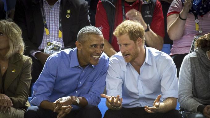 Barack Obama et le Prince Harry lors de l'Invictus Games à Toronto.