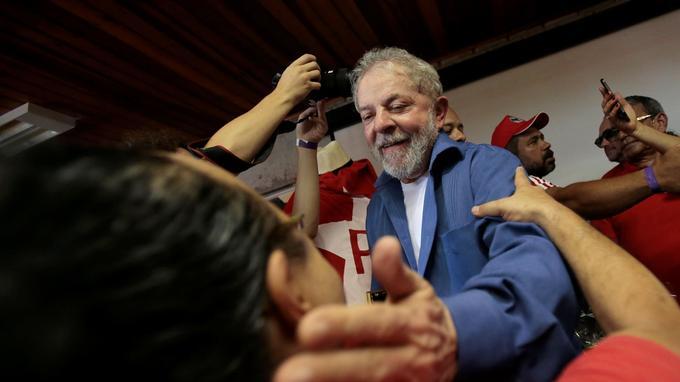 Lula, le 23 décembre 2017. L'ancien président de la république est de nouveau candidat à l'élection présidentielle.